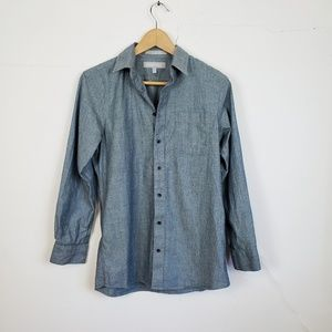 Nordstrom Chambray Blue Button Up